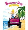 Summer Holidays Design Concept vector image