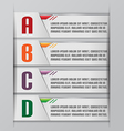 Tab Graphic Modern Template Style vector image vector image