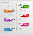time line info graphic with abstract colored vector image vector image