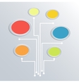 Tree symbol communication information technology vector image vector image