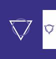triangle circle shape ornament frame vector image