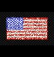 usa sparkling flag background vector image vector image