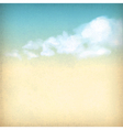 Vintage sky clouds old paper textured background vector