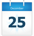 Calendar page for December 25 vector image