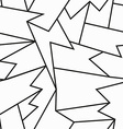 monochrome cracked seamless pattern vector image