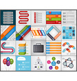 Set colorful infographics design elements vector image