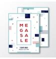 Season Mega Sale Poster Card or Flyer Template vector image