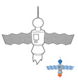 Space satellite coloring book Space station vector image
