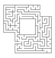 a square labyrinth with an entrance and an exit vector image vector image