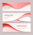 abstract design banner a set banner vector image vector image