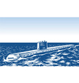 Atomic submarine vector image