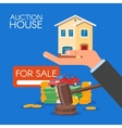 Auction and bidding concept in vector image vector image