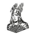 beautiful woman viking warrior vector image vector image