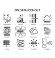 Big data icons vector image