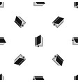 book with bookmark pattern seamless black vector image vector image