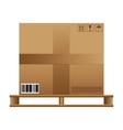 Brown carton box wooden pallet vector image vector image