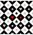 Card Suit Chess Board Black White Background vector image vector image