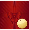christmas gift wrapped background vector image vector image