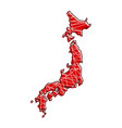 colored japan map vector image