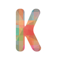 Colorful alphabet K vector image