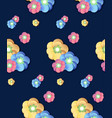colorful flower print seamless background vector image vector image
