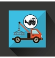 construction truck concept car tow design vector image