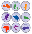 countries of the world on coins set vector image