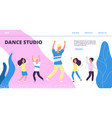 Dance studio landing page happy dancing