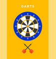 darts sport poster vector image vector image