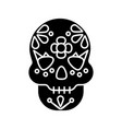 day dead glyph icon vector image