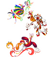 Decorative birds vector image