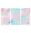 design set editable social network vertical vector image vector image