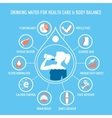 drinking water for health care infographic vector image vector image