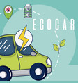 electric ecocar vehicle vector image vector image