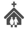 Family Church Flat Icon vector image vector image