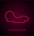 final dash circuit outline vector image