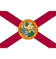 flag usa state florida vector image vector image