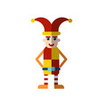 flat icon royal jester fool in funny vector image vector image