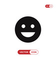 good mood emoticon icon vector image vector image