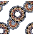 Gray mandalas in line over white background vector image