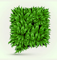 green grass speech bubble on white background eco vector image vector image