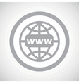 Grey global search sign icon vector image vector image