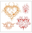 Hearts design for tattoo vector image