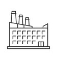 hostel hotel linear icon vector image