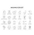 line icons set washing pack vector image vector image