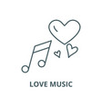 love music line icon linear concept vector image vector image