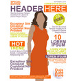 Magazine Template vector image vector image