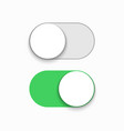 modern green slider button on white vector image vector image