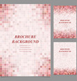 Modern square pattern brochure background set vector image vector image