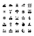 nature glyph icons pack vector image vector image